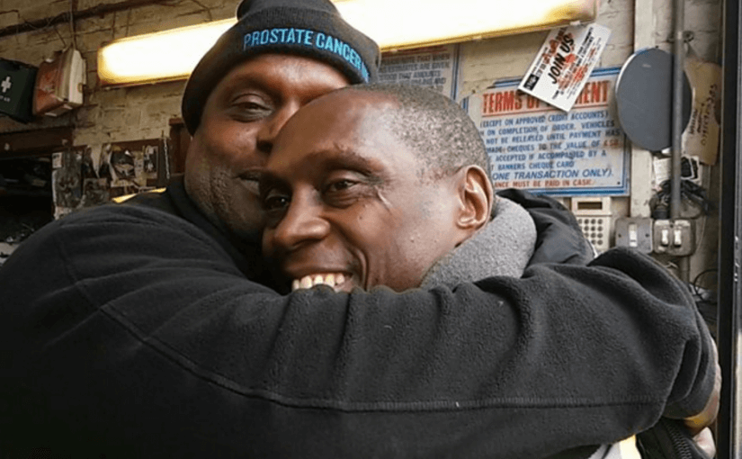 Thomas is grateful for Errol for encouraging him to get a prostate check